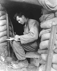 Soldier writing